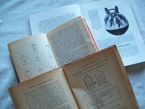 lote de 3 libros sobre cerámica
