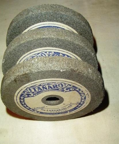 lote de 3 piedras abrasivas gris claro - grano fino