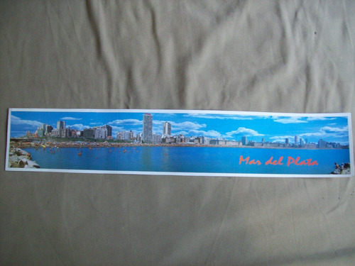lote de 3 postales de mar del plata panoramicas de 54,5 cm