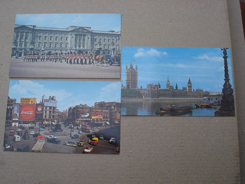 lote de 3 postales made in usa - vistas england