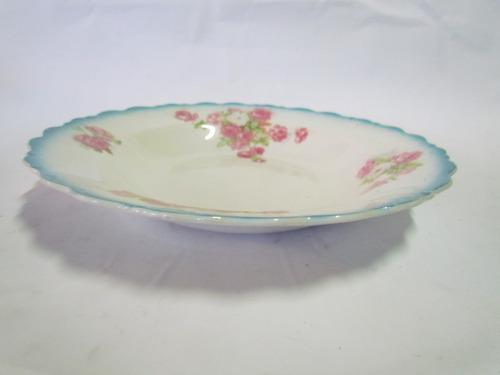 lote de 3 pratos fundo de porcelana inglesa