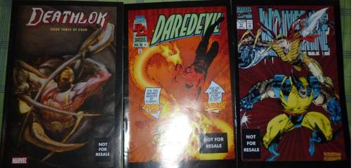 lote de 3 revistas marvel legends