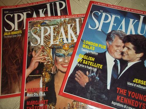lote de 3 revistas speakup