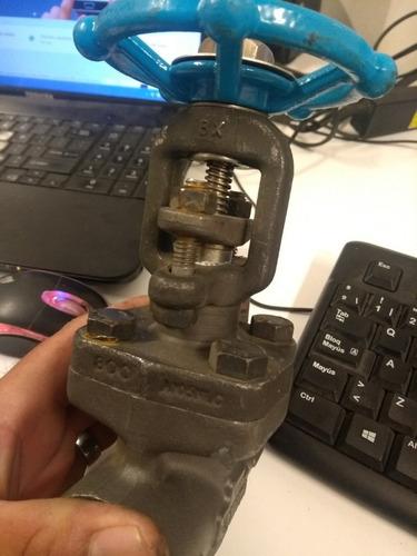 lote de 3 válvula roscable de 1  diametro tipo compuerta