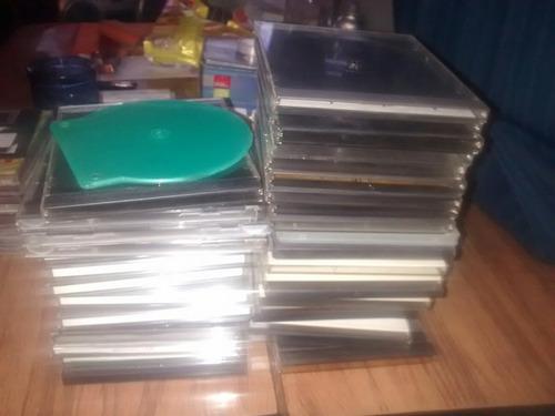 lote de 35 cajas para cd / dvd