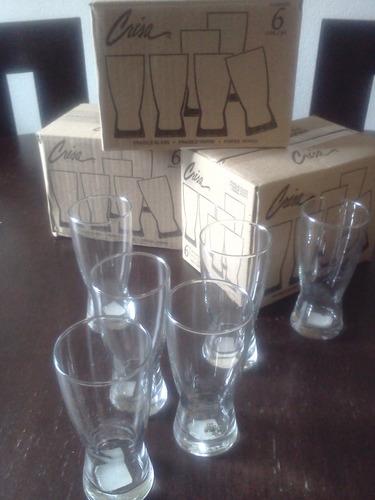 lote de 36 vasos crisa, excelente precio!!!!