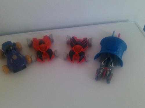 lote de 4 autos de batle force de mac donalds