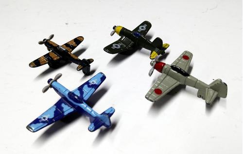lote de 4 aviones die-cast segunda guerra - 3cm