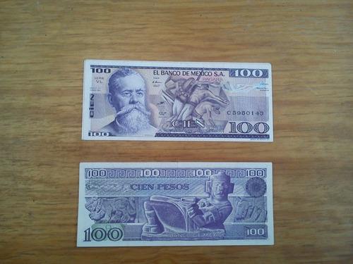 lote de 4 billetes antiguos 100 pesos venustiano carranza