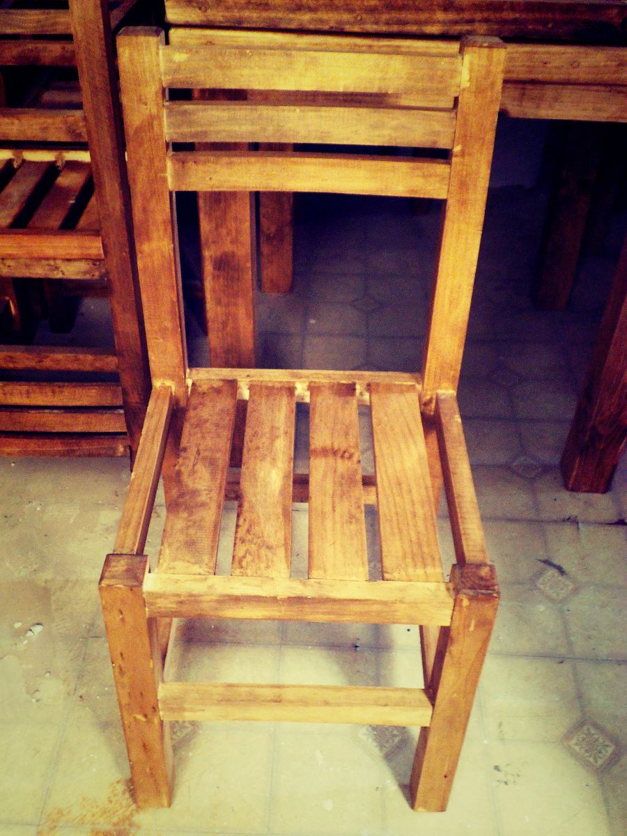 lote de 4 comedores de madera nuevo r stico 12 000