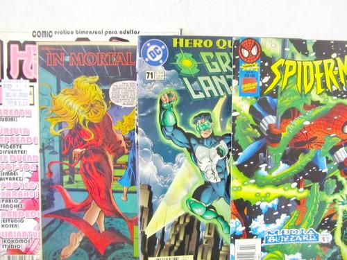lote de 4 comics in mortal guise green lantern spiderman