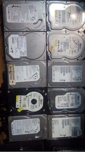lote de 4 discos duros de 80 gb y 1 de 120 gb