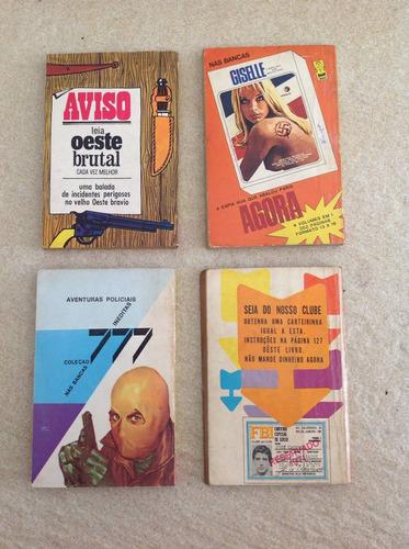 lote de 4 livrinhos de bolso zz7 n°172, 207, 231 e 146