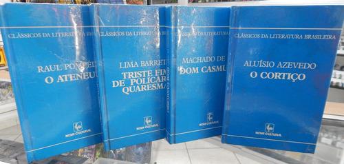 lote de 4 livros coleção classicos da literatura brasileira