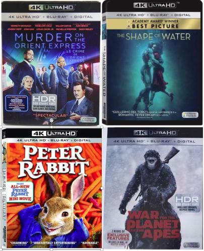 lote de 4 películas en 4k