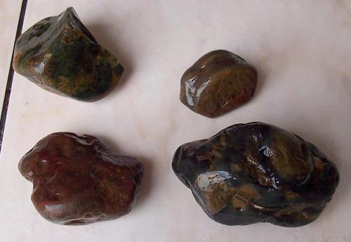 lote de 4 piedras roca jaspe rio uruguay entre rios 427 gr