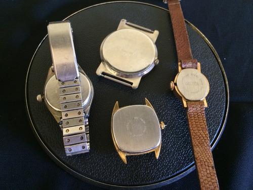 lote de 4 relógios de pulso