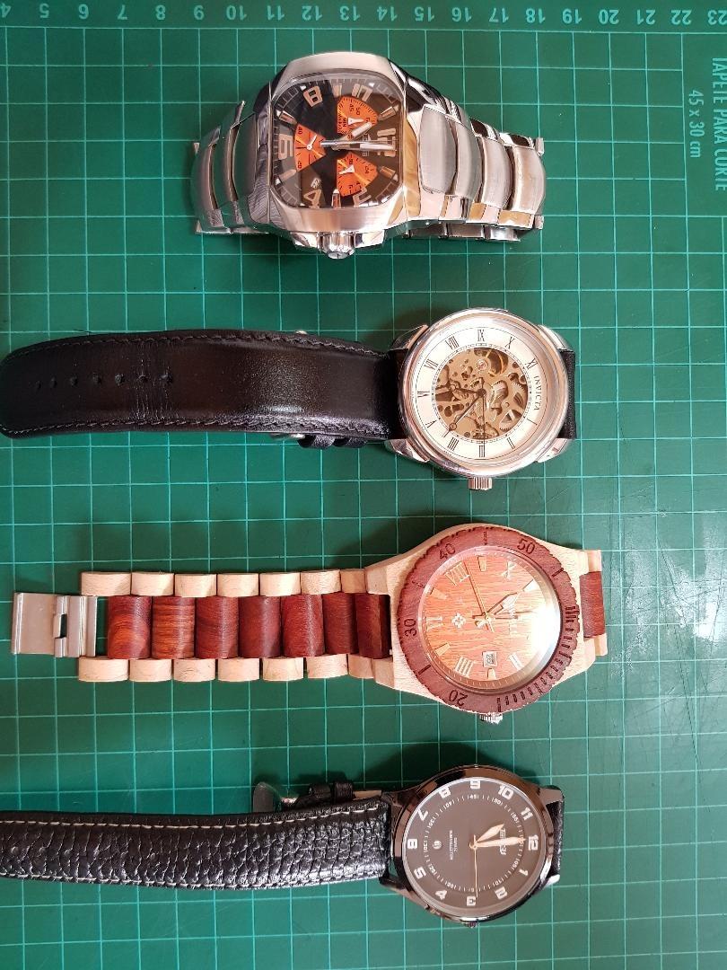 edbbacb948b3 lote de 4 relojes vendo por viaje. Cargando zoom.