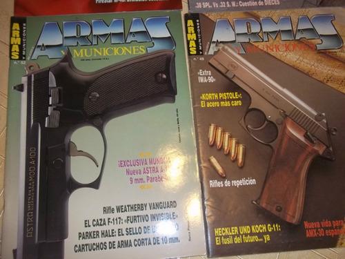 lote de 4 revistas armas y municiones - año 1990