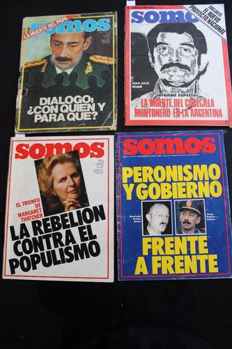 lote de 4 revistas somos