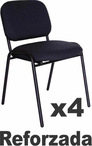 lote de 4-sillas de visita reforzada,oficina,iglesia,consult