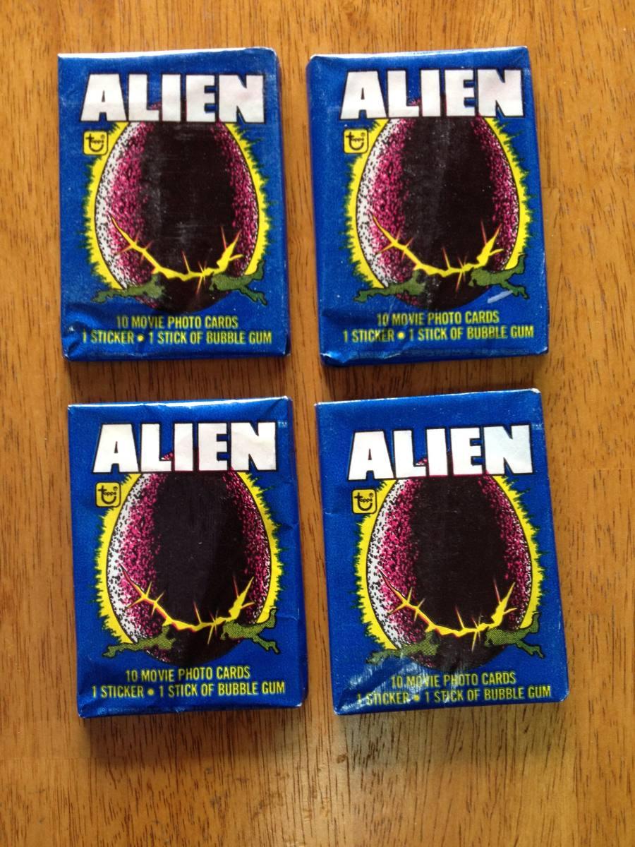 1f02c22afe09 Lote De 4 Sobres Vintage Nuevos De Tarjetas De Alien -   550.00 en ...