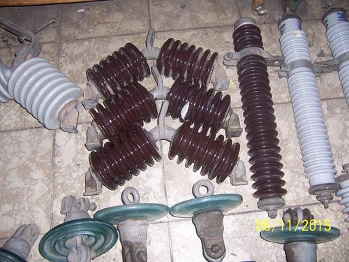 lote de 43 aisladores usados para transformador alta tension