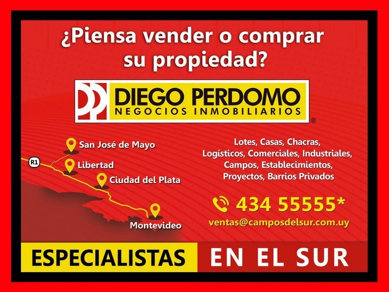 lote de 45590 m² en venta, localidad de libertad - uruguay