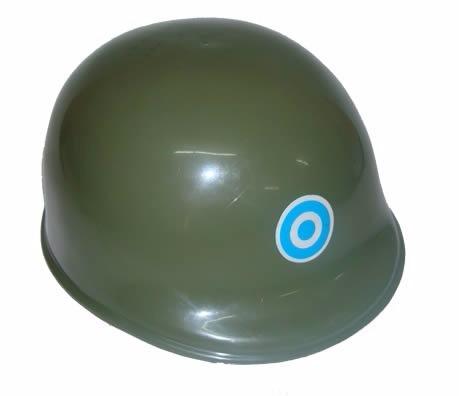 lote de 5 casco soldado plastico duro verde militar