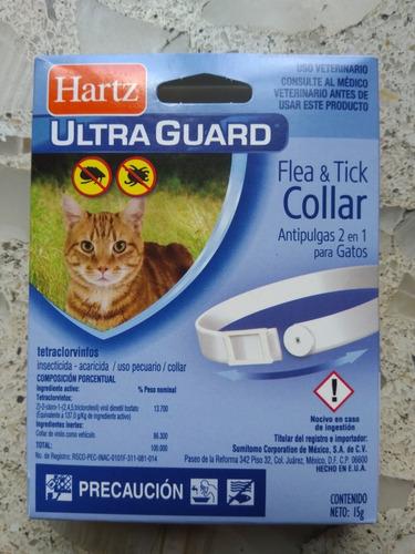 lote de 5 collares antipulgas y garrapatas para gato hartz