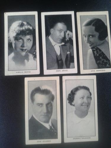 lote de 5 figuritas de cigarrillos década del 30