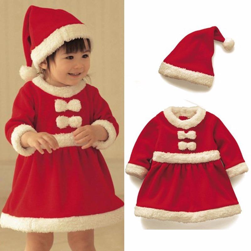 Lote De 5 Pza Vestido Navidad Niña Santa Claus Señora Claus