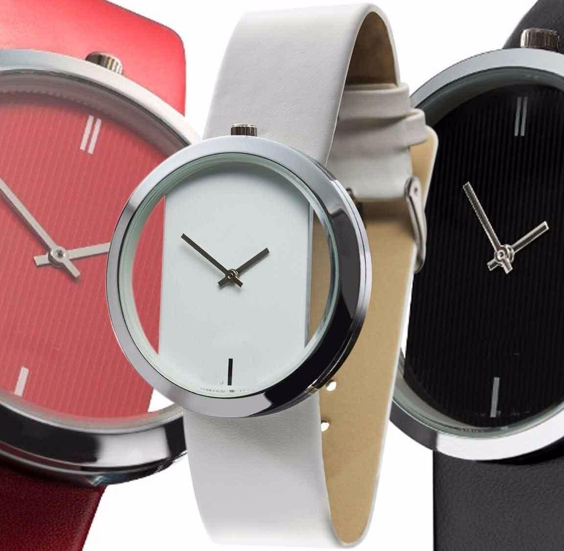 0624bfa3c1fb Lote De 5 Reloj Minimalista Estilo Ck Glam 3 Colores -   498.99 en ...