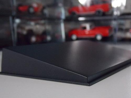lote de 5 tapas acrilicas + base negra