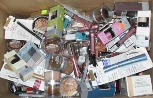 lote de 50 cosmeticos - maybelline, loreal, c. girl, rimmel