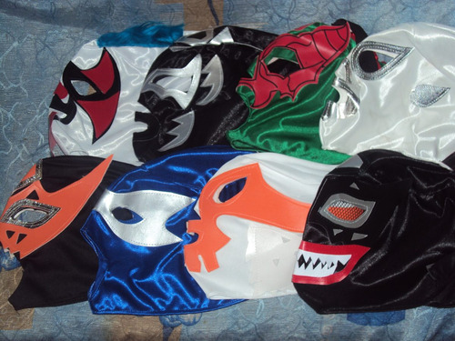 lote de 50 mascaras de luchadores p/adulto envio gratis 1dia