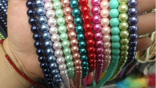 lote de 50 tiras perla cristal 4mm 6 mm 8 mm