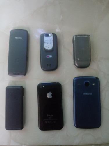lote de 6 celulares