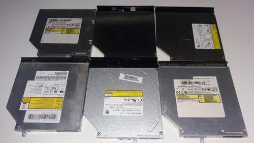 lote de 6 drive de cd/dvd funcionando marcas variadas #2395