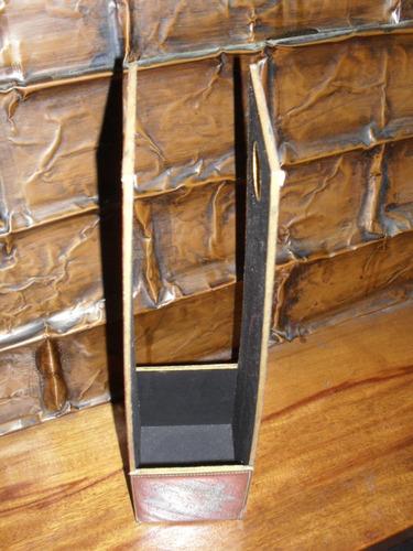 lote de 6 hermosos porta botellas de madera !!!
