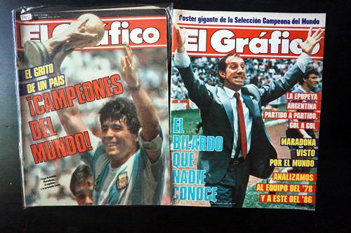 lote de 6 revistas  el gràfico  del  mundial 1986