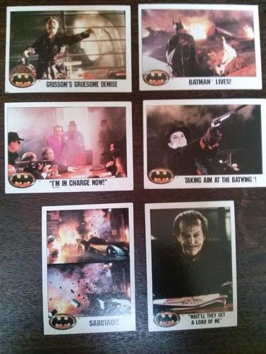 lote de 6 tarjetas de batman 1989