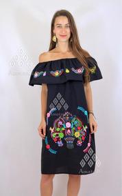 Lote De 6 Vestidos Artesanales Típicos Bordados Mexcianos