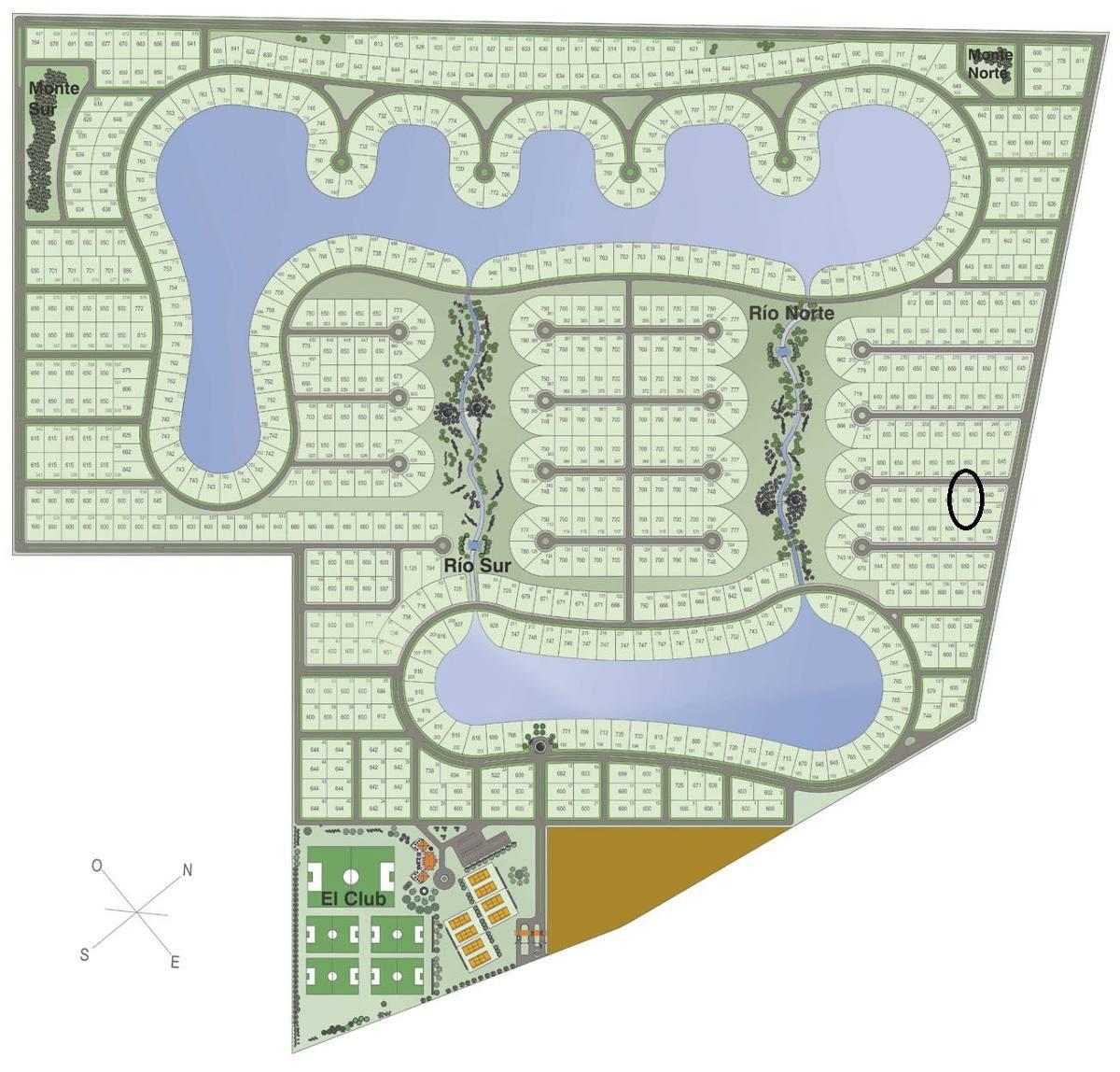 lote de 650 m² en barrio cerrado horizontes al sur