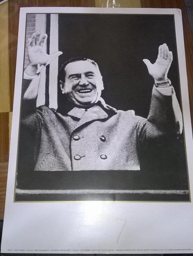 lote de 7 posters calidad foto de perón y evita ( unico )