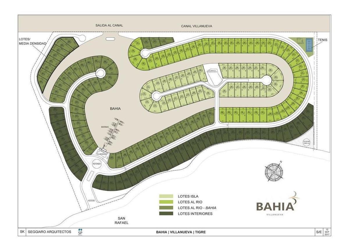 lote de 756m2 con opción de amarra - bahia villa nueva, tigre