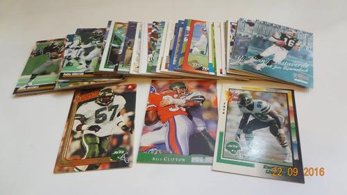 lote de 78 tarjetas de los jets de nueva york nfl cards