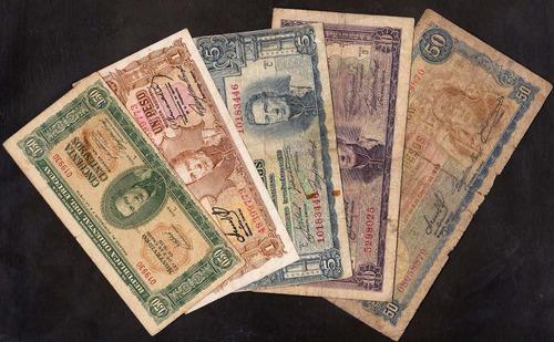 lote de 8 billetes de 1939 por $500