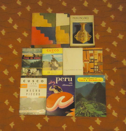 lote de 8 libros de peru - guia turistica e historia