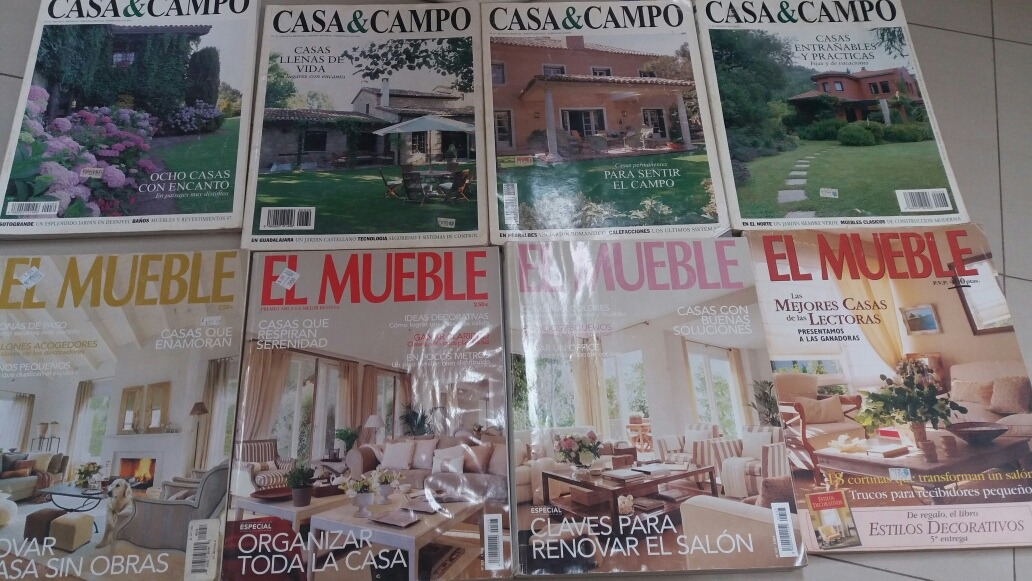 Lote De 8 Revistas De Decoración Casa Y Campo, El Mueble - Bs ...